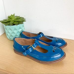 TOPSHOP Blue Mary Jane Buckle Up Flats